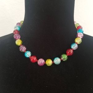Jewelry - Colorful Glass Choker Necklace